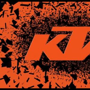 Tapis environnemental KTM sport motorcycles - Graphisme éclats - orange