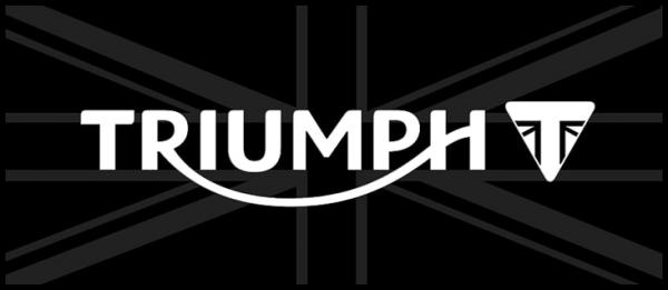 Tapis environnemental TRIUMPH Blason - noir & blanc